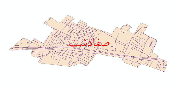 دانلود نقشه شیپ فایل شبکه معابر شهر صفادشت سال 1399