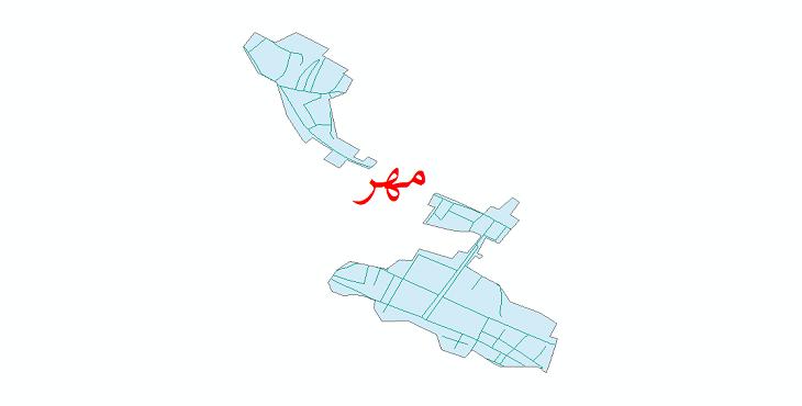 دانلود نقشه شیپ فایل شبکه معابر شهر مهر سال 1399