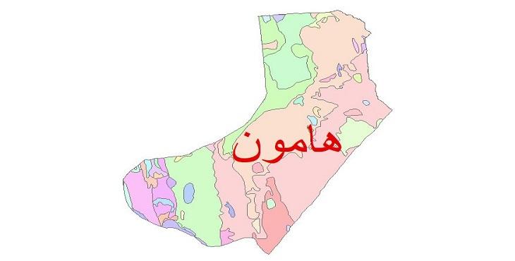 دانلود نقشه شیپ فایل زمین شناسی شهرستان هامون