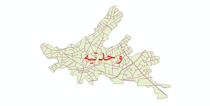 دانلود نقشه شیپ فایل شبکه معابر شهر وحدتیه سال 1399