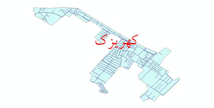 دانلود نقشه شیپ فایل شبکه معابر شهر کهریزک سال 1399