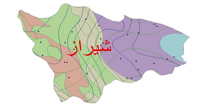 دانلود شیپ فایل اقلیمی شهرستان شیراز