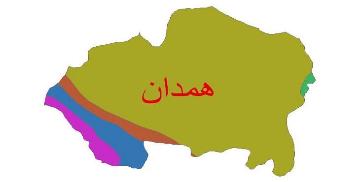 دانلود شیپ فایل اقلیمی شهرستان همدان
