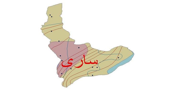 دانلود شیپ فایل اقلیمی شهرستان ساری