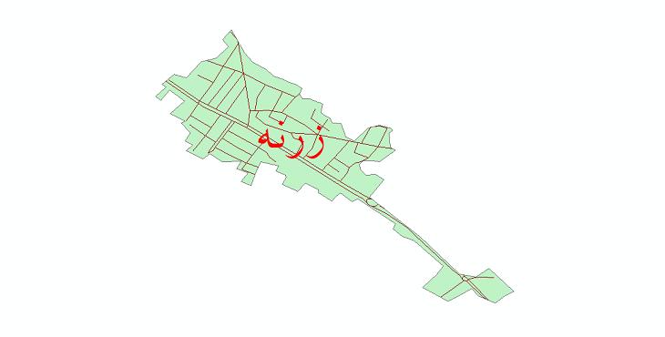 دانلود نقشه شیپ فایل شبکه معابر شهر زرنه سال 1399