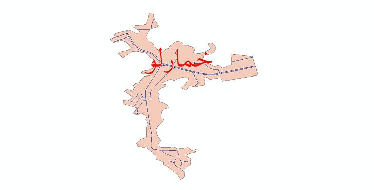 دانلود نقشه شیپ فایل شبکه معابر شهر خمارلو سال 1399