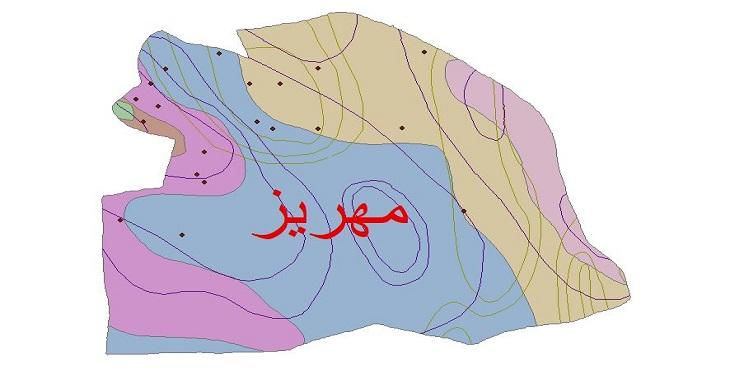 دانلود شیپ فایل اقلیمی شهرستان مهریز
