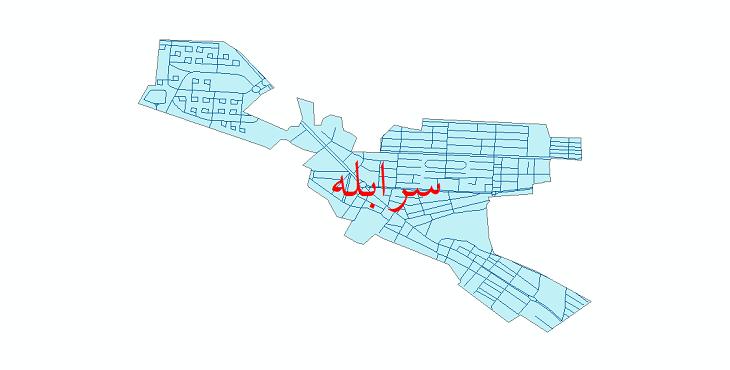 دانلود نقشه شیپ فایل شبکه معابر شهر سرابله سال 1399
