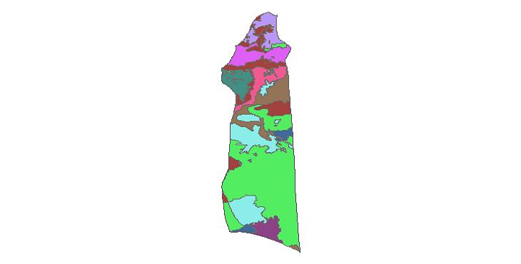 شیپ فایل کاربری اراضی شهرستان آرادان