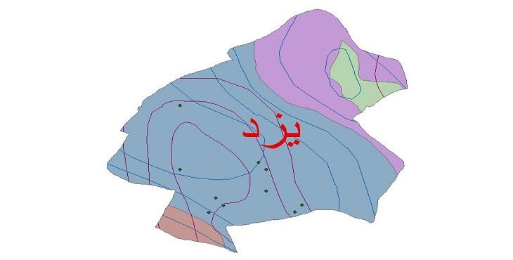 دانلود شیپ فایل اقلیمی شهرستان یزد