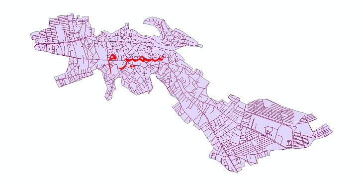 دانلود نقشه شیپ فایل شبکه معابر شهر سمیرم سال 1399