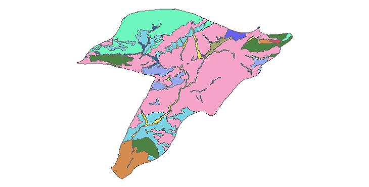 شیپ فایل کاربری اراضی شهرستان فیروزکوه