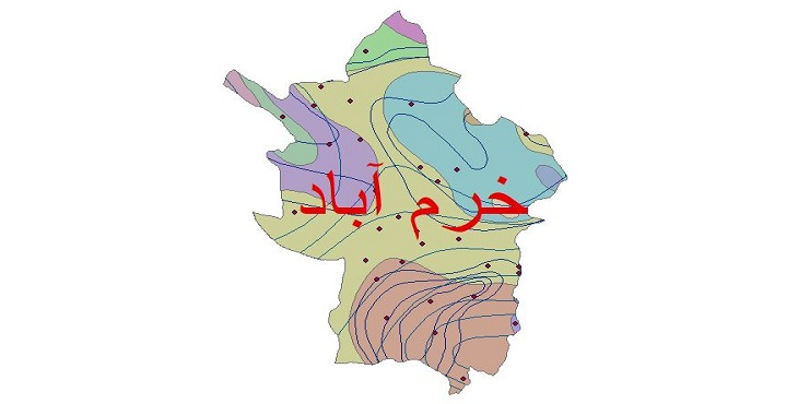 دانلود شیپ فایل اقلیمی شهرستان خرم آباد
