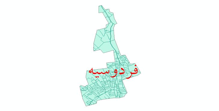 دانلود نقشه شیپ فایل شبکه معابر شهر فردوسیه سال 1399