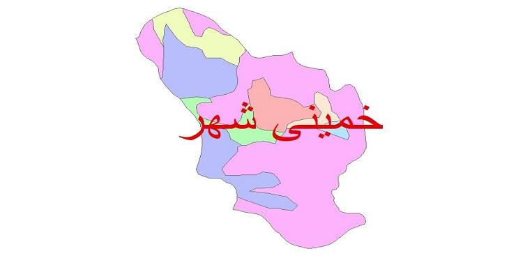 دانلود نقشه شیپ فایل زمین شناسی شهرستان خمینی شهر