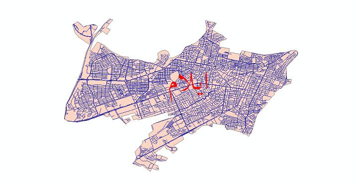 دانلود نقشه شیپ فایل شبکه معابر شهر ایلام سال 1399