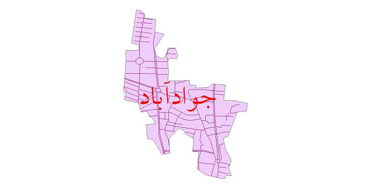 دانلود نقشه شیپ فایل شبکه معابر شهر جوادآباد سال 1399