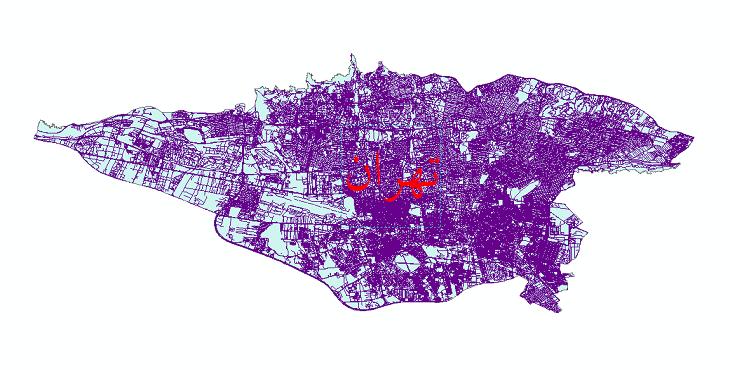 دانلود نقشه شیپ فایل شبکه معابر شهر تهران سال 1399