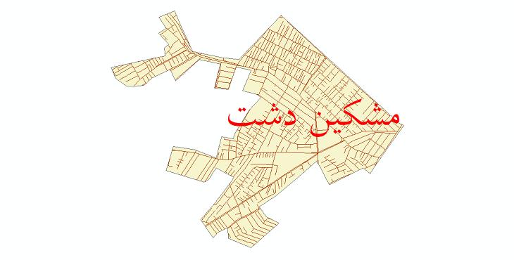 دانلود نقشه شیپ فایل شبکه معابر شهر مشکین دشت سال 1399
