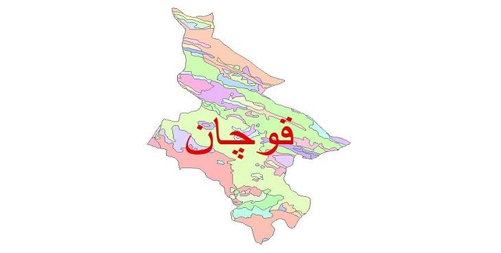 دانلود نقشه شیپ فایل زمین شناسی شهرستان قوچان