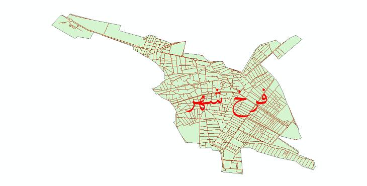 دانلود نقشه شیپ فایل شبکه معابر شهر فرخ شهر سال 1399