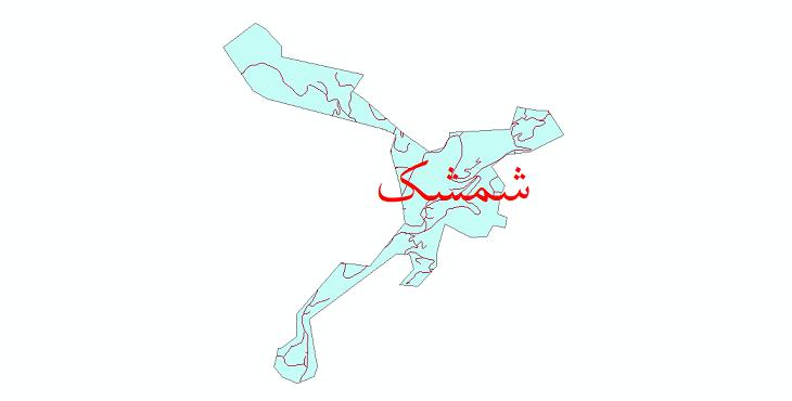 دانلود نقشه شیپ فایل شبکه معابر شهر شمشک سال 1399