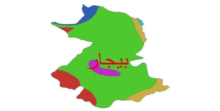 دانلود شیپ فایل اقلیمی شهرستان بیجار