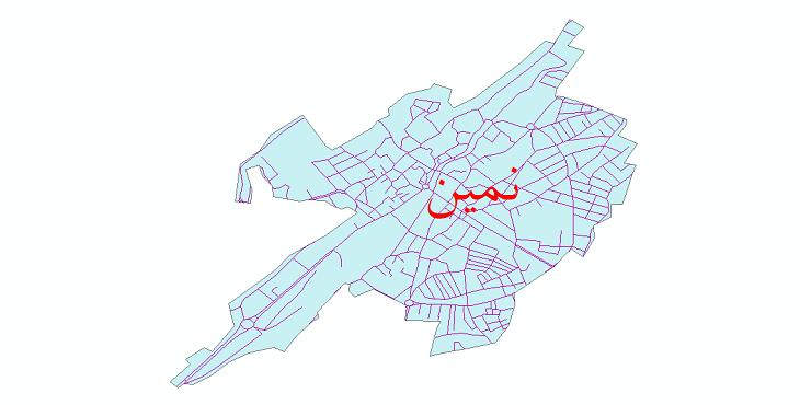 دانلود نقشه شیپ فایل شبکه معابر شهر نمین سال 1399