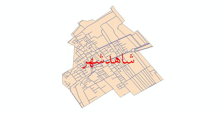 دانلود نقشه شیپ فایل شبکه معابر شهر شاهدشهر سال 1399