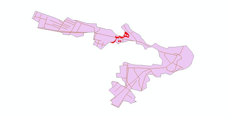 دانلود نقشه شیپ فایل شبکه معابر شهر هیر سال 1399
