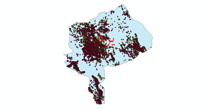 دانلود نقشه شیپ فایل آمار جمعیت نقاط شهری و نقاط روستایی استان یزد از سال 1335 تا 1395