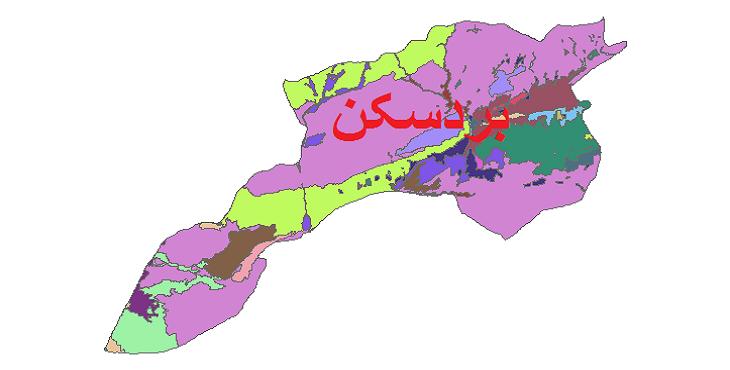 شیپ فایل کاربری اراضی شهرستان بردسکن