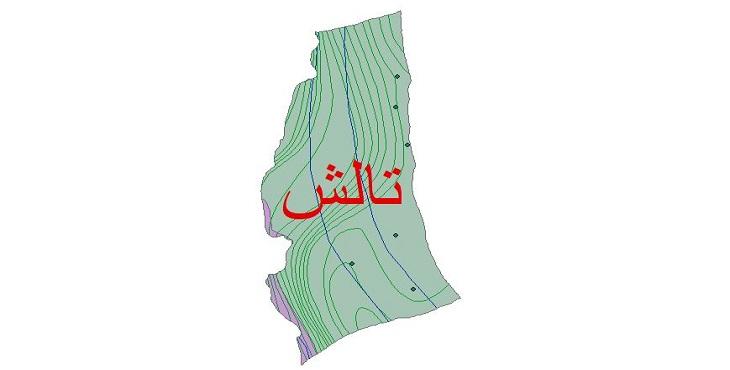 دانلود شیپ فایل اقلیمی شهرستان تالش