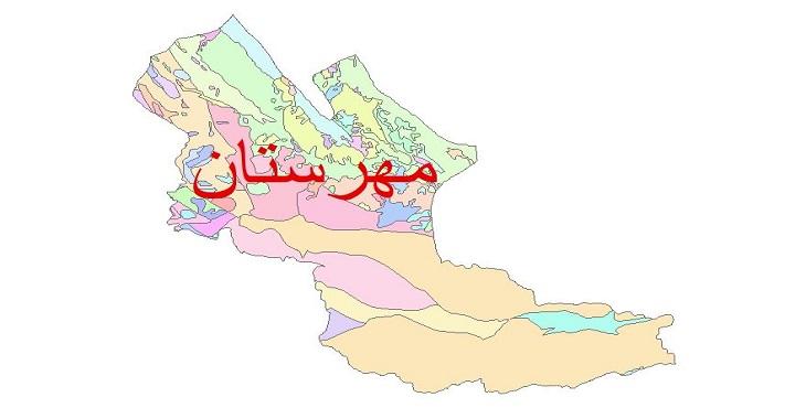 دانلود نقشه شیپ فایل زمین شناسی شهرستان مهرستان