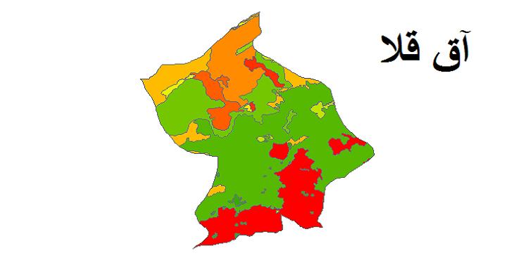 شیپ فایل کاربری اراضی شهرستان آق قلا