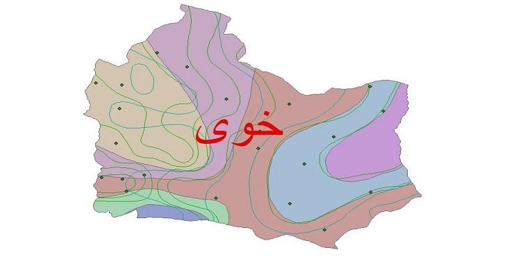دانلود شیپ فایل اقلیمی شهرستان خوی