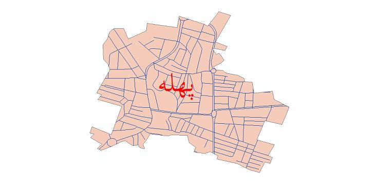 دانلود نقشه شیپ فایل شبکه معابر شهر پهله سال 1399