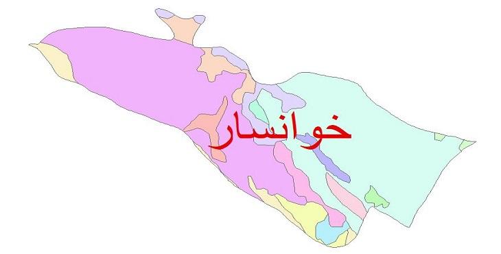 دانلود نقشه شیپ فایل زمین شناسی شهرستان خوانسار
