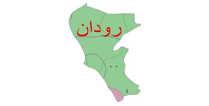 دانلود شیپ فایل اقلیمی شهرستان رودان