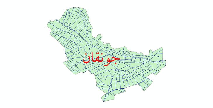 دانلود نقشه شیپ فایل شبکه معابر شهر جونقان سال 1399