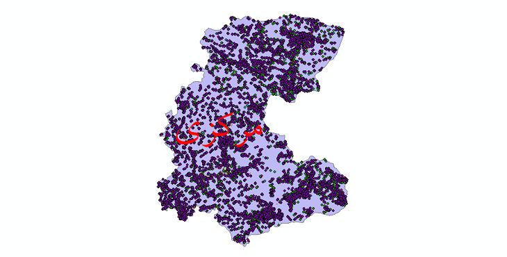 دانلود نقشه شیپ فایل آمار جمعیت نقاط شهری و نقاط روستایی استان مرکزی از سال 1335 تا 1395