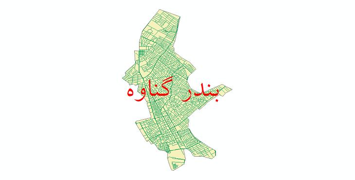 دانلود نقشه شیپ فایل شبکه معابر شهر بندر گناوه سال 1399