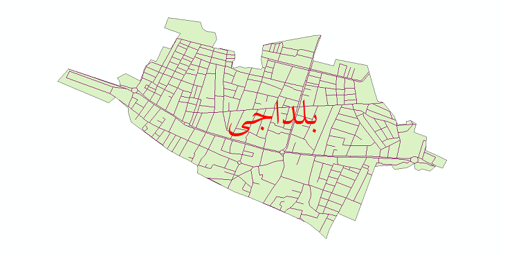 دانلود نقشه شیپ فایل شبکه معابر شهر بلداجی سال 1399