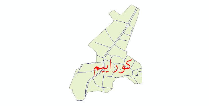 دانلود نقشه شیپ فایل شبکه معابر شهر کوراییم سال 1399