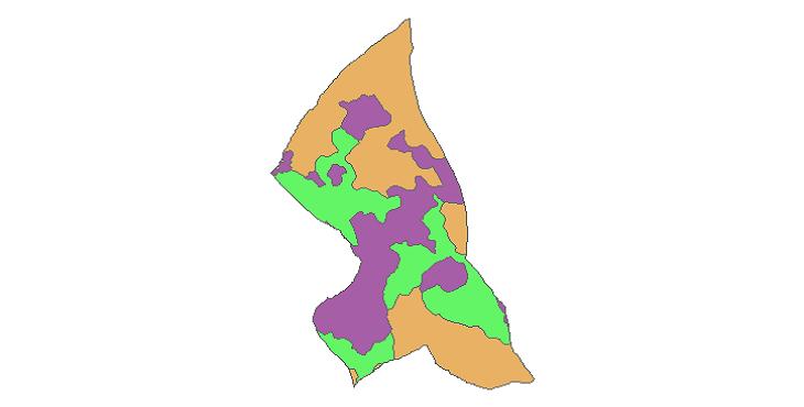 شیپ فایل کاربری اراضی شهرستان بهارستان