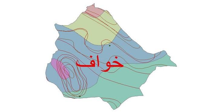 دانلود شیپ فایل اقلیمی شهرستان خواف