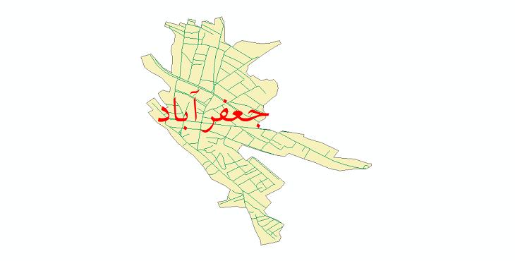 دانلود نقشه شیپ فایل شبکه معابر شهر جعفرآباد سال 1399