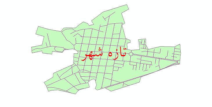 دانلود نقشه شیپ فایل شبکه معابر شهر تازه شهر سال 1399