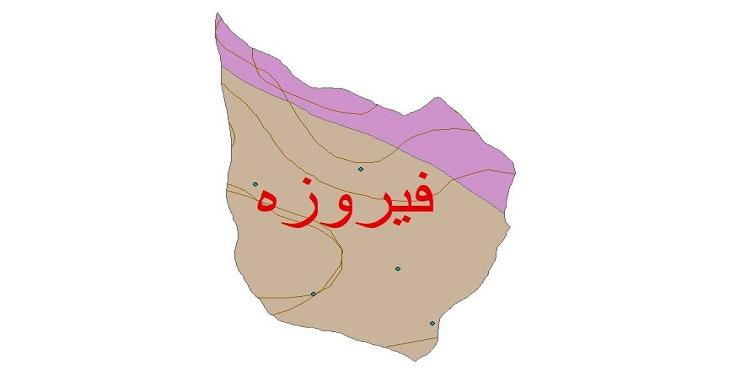 دانلود شیپ فایل اقلیمی شهرستان فیروزه