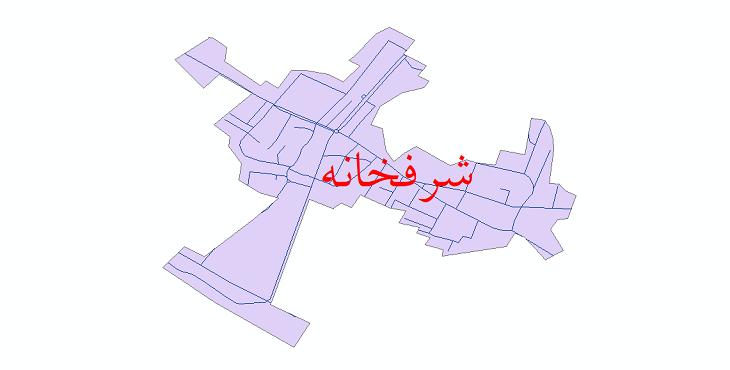 دانلود نقشه شیپ فایل شبکه معابر شهر شرفخانه سال 1399